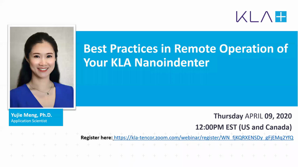 Best Practices in Remote Operation of Your KLA Nanoindenter.mp4