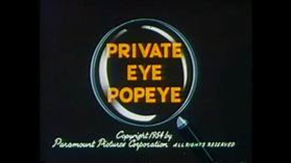 Private Eye Popeye (Remastered)