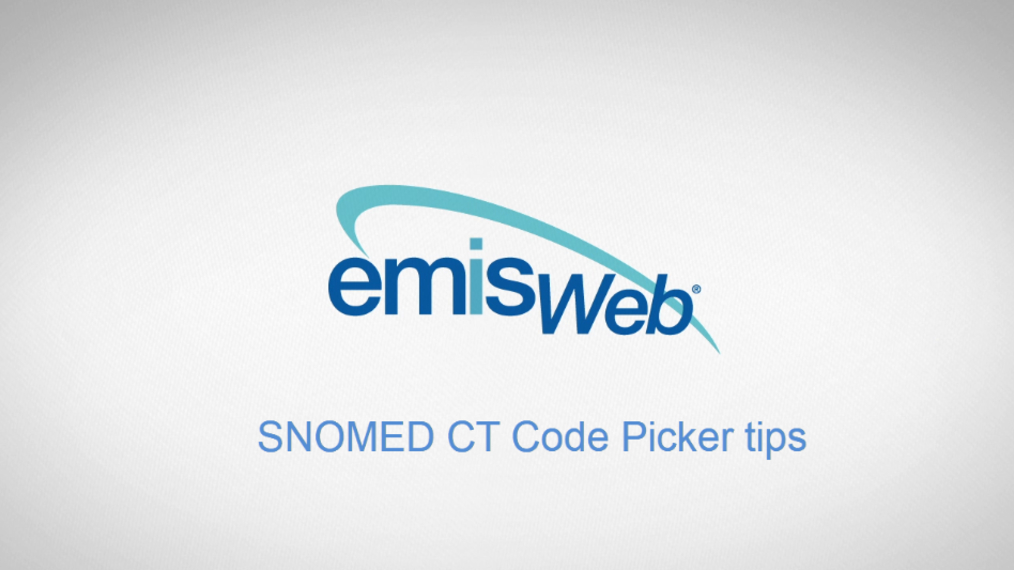 SNOMED CT code picker tips updated.mp4
