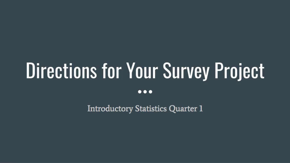 NEW Directions for your Survey Project.mp4
