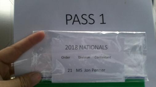 Jon Penner M5 Round 1 Pass 1