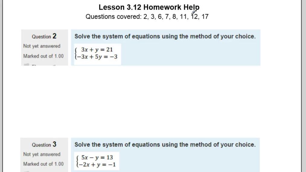 Lesson 3.12 Homework Help.vid