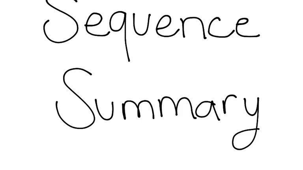 Sequences Summary