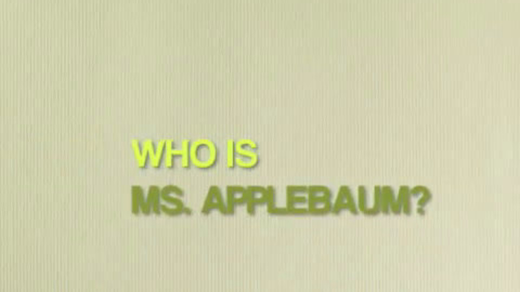 Who is Ms  Applebaum