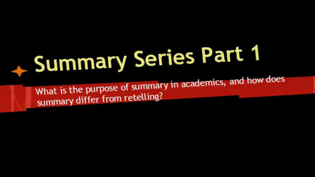 Summary Series Part 1.mp4