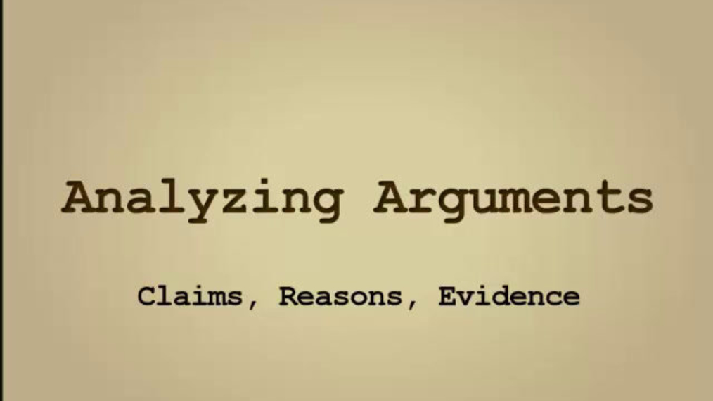 Claims, Reasons, Evidence.mp4