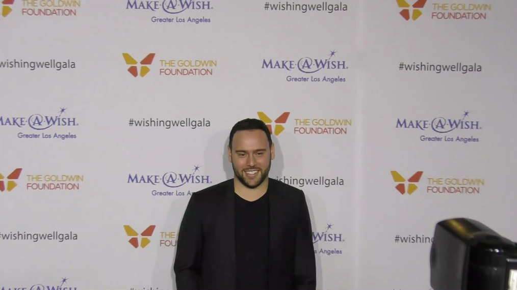 Scooter Braun at the 4th Annual Wishing Well Winter Gala at Hollywood Palladium in Hollywood.mp4