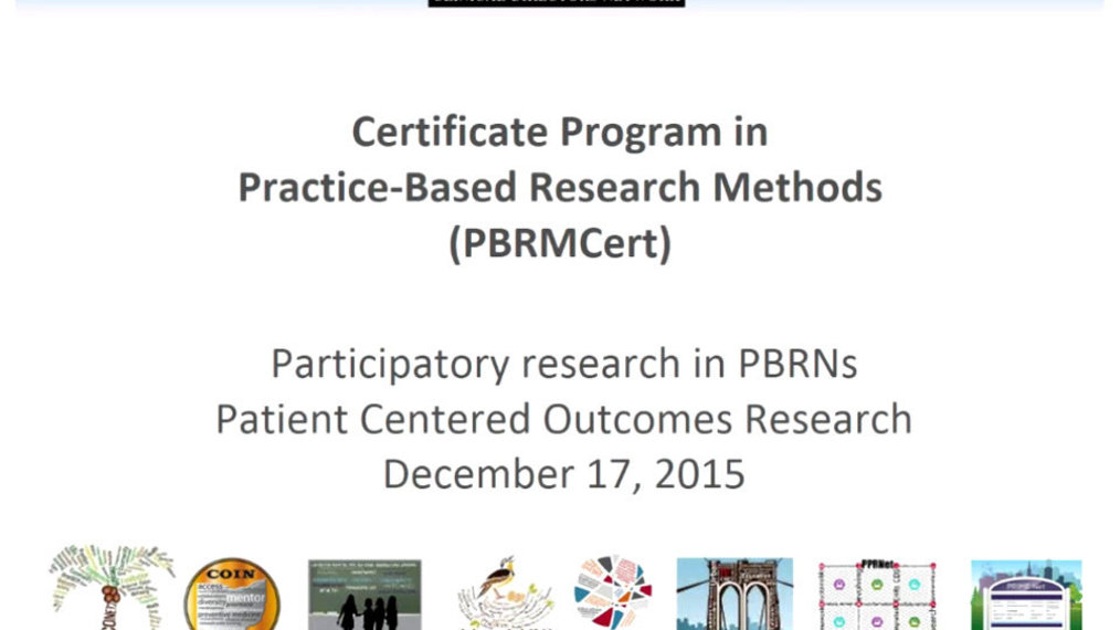 Participatory research in PBRNs Patient Centered Outcomes Research