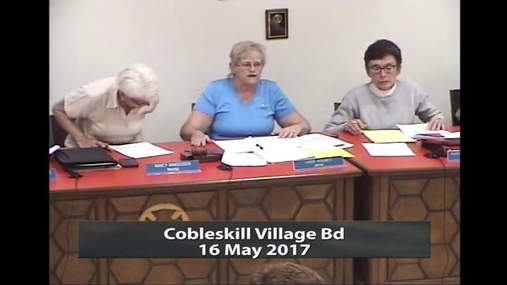 Cobleskill Village Bd -- 16 May 2017