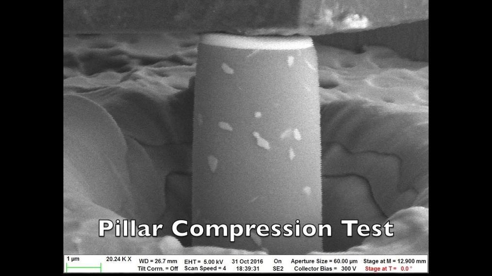 Pillar compression test