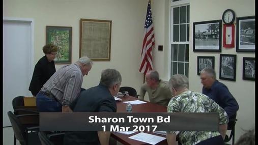 Sharon Town Bd _ 1 Mar 2017