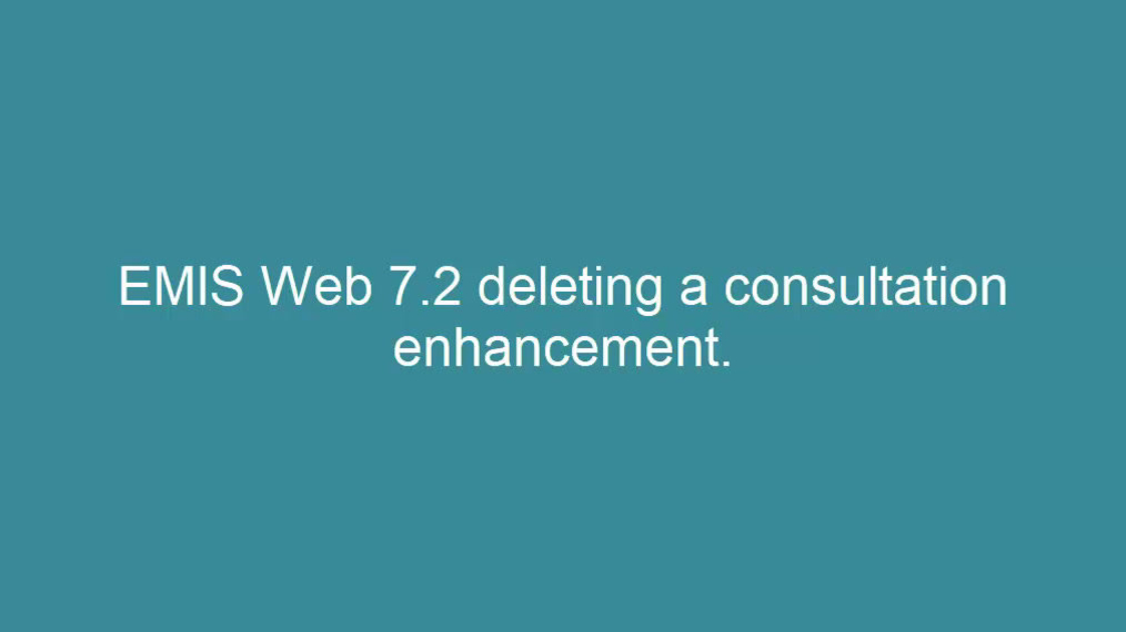 Deleting a consultation