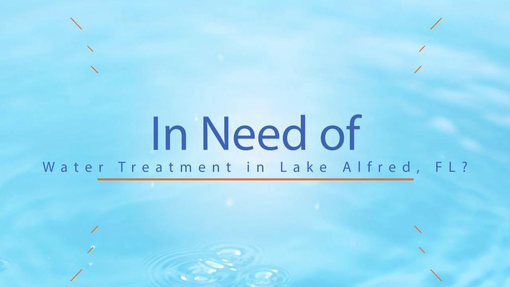 Water Treatment in Lake Alfred FL, Watertech Inc