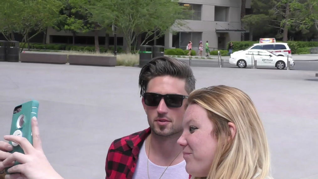 Michael Ray outside ACM Awards Radio Row at T-Mobile Arena in Las Vegas.mp4