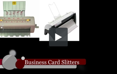 Business card cutters and slitters business card slitters overview video reheart Images