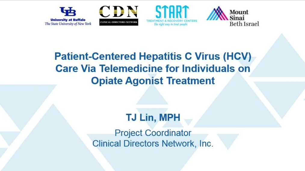Patient-Centered Hepatitis C Virus (HCV) Care Via Telemedicine for Individuals on Opiate