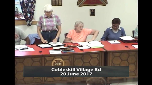 Cobleskill Village Bd--20 June 2017