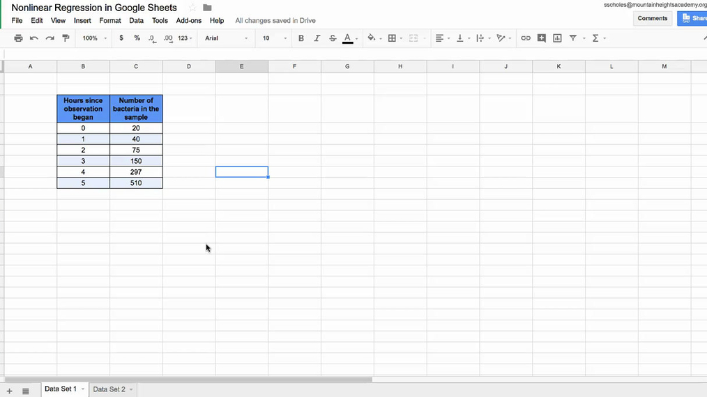 Nonlinear Regression in Google Sheets.mp4