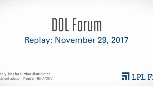DOL Forum Replay: November 29, 2017