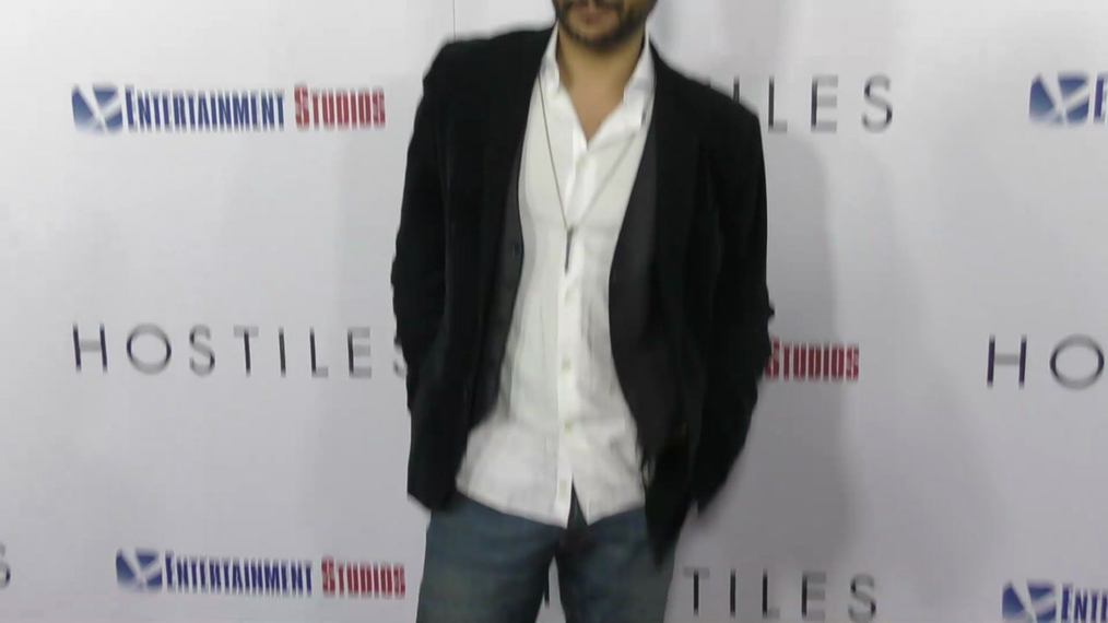 Cas Anvar at the Hostiles Premiere at Samuel Goldwyn Theater in Beverly Hills.mp4