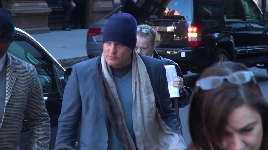 Woody Harrelson outside the BUILD Series in New York.mp4
