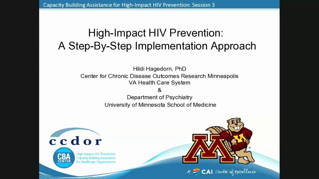 High-Impact HIV Prevention: A Step-By-Step Implementation Approach