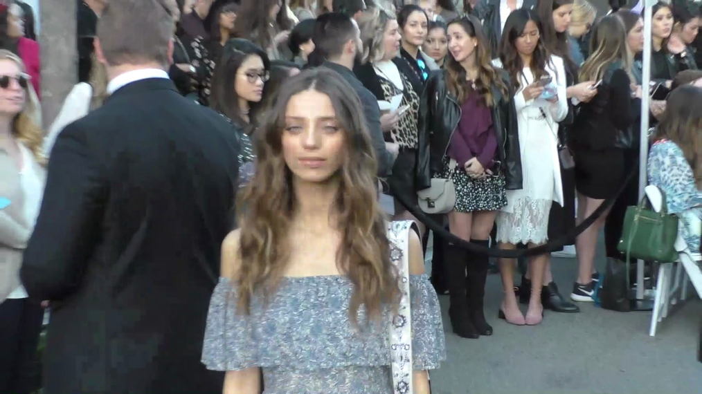 Angela Sarafyan at the Rebecca Minkkoff's See Now, Buy Now Fashion Show at The Grove in Hollywood.mp4