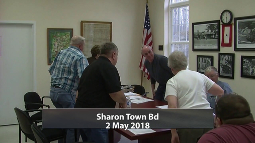 Sharon Town Bd -- 2 May 2018