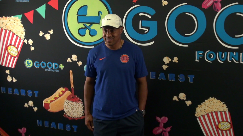 John Starks at the GOOD Foundation Central Park Bash in New York.mp4