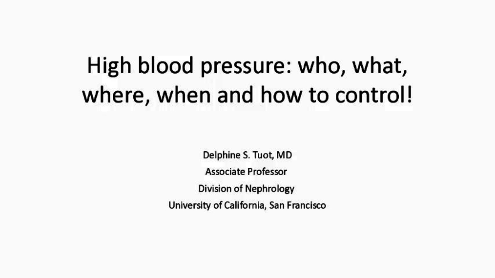 High blood pressure: who, what, where, when and how to control! 3.26.18.PAmp4