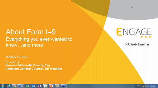 January 2017 HR Webinar: About the New Form I-9