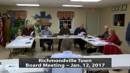 Richmondville Twn Board -- 1-12-2017