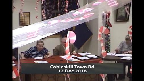 Cobleskill Town Bd -- 12 Dec 2016