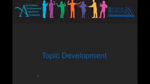 Speakers Academy - Topic Development with Helen Macdonald.mp4