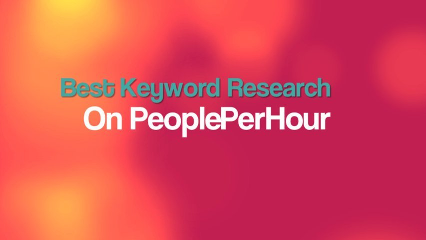 Do MANUAL indepth SEO keyword research and send you a detailed report
