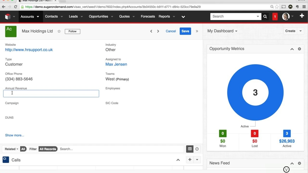 SugarCRM7 - How to Edit a Record