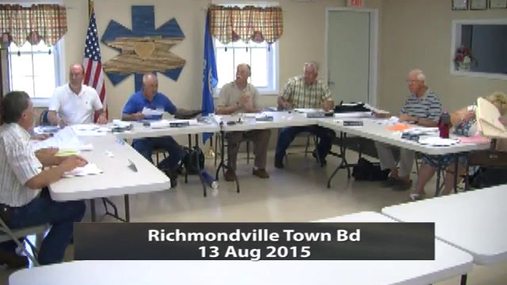 Richmondville Town Bd 13 Aug 2015 part 1