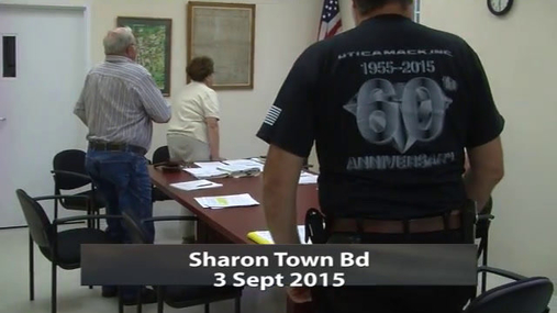 Sharon Town Bd 3 Sept 2015