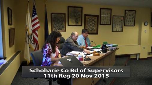 Schoharie Co Bd of Supervisors 11th Reg 20 Nov 2015 Pt1.MPG