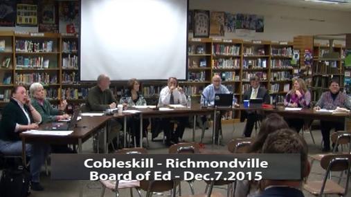 CRCS Board of Ed 12-7-2015