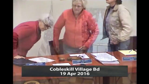 Cobleskill Village Bd -- 19 Apr 2016