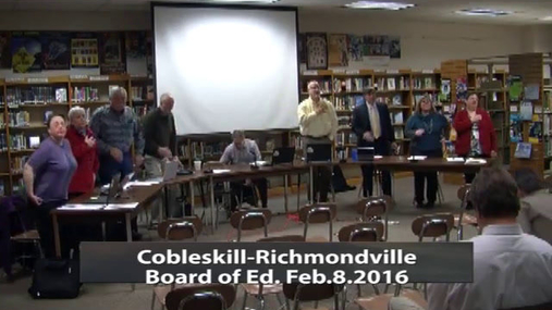 CRCS Bd of Ed -- Feb 8 2016