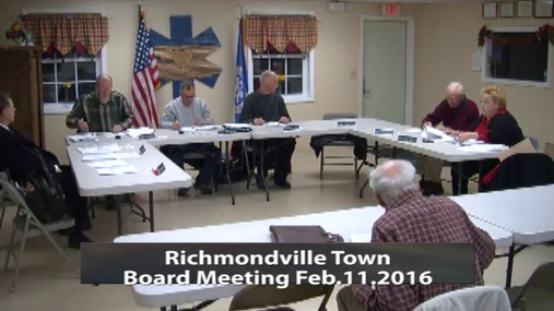 Richmondville Town Board -- Feb 11 2016