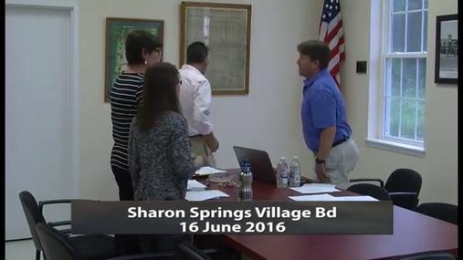 Sharon Springs Village Bd --16 June 2016