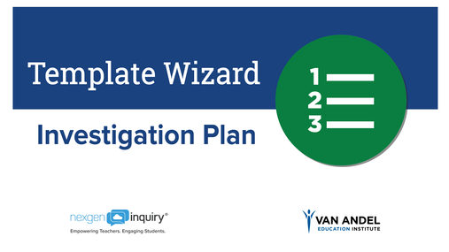 Template Wizard - Investigation Plan