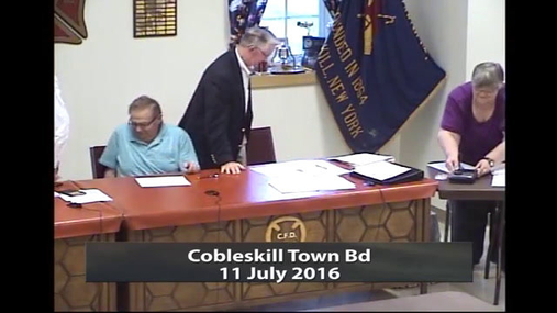 Cobleskill Town Bd -- 11 July 2016