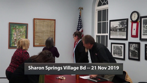 Sharon Springs Village Bd -- 21 Nov 2019