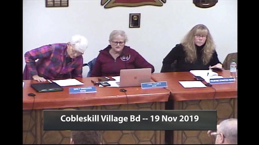 Cobleskill Village Bd -- 19 Nov 2019