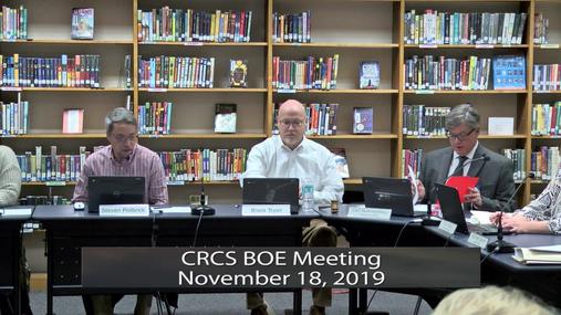 CRCS BOE--  Nov. 18, 2019