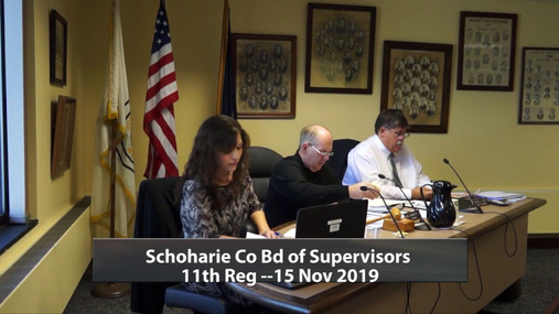 Schoharie Co Bd of Supervisors 11th Reg -- 15 Nov 2019